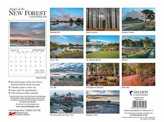 images of the new forest calendar 2018 amazon co uk office products