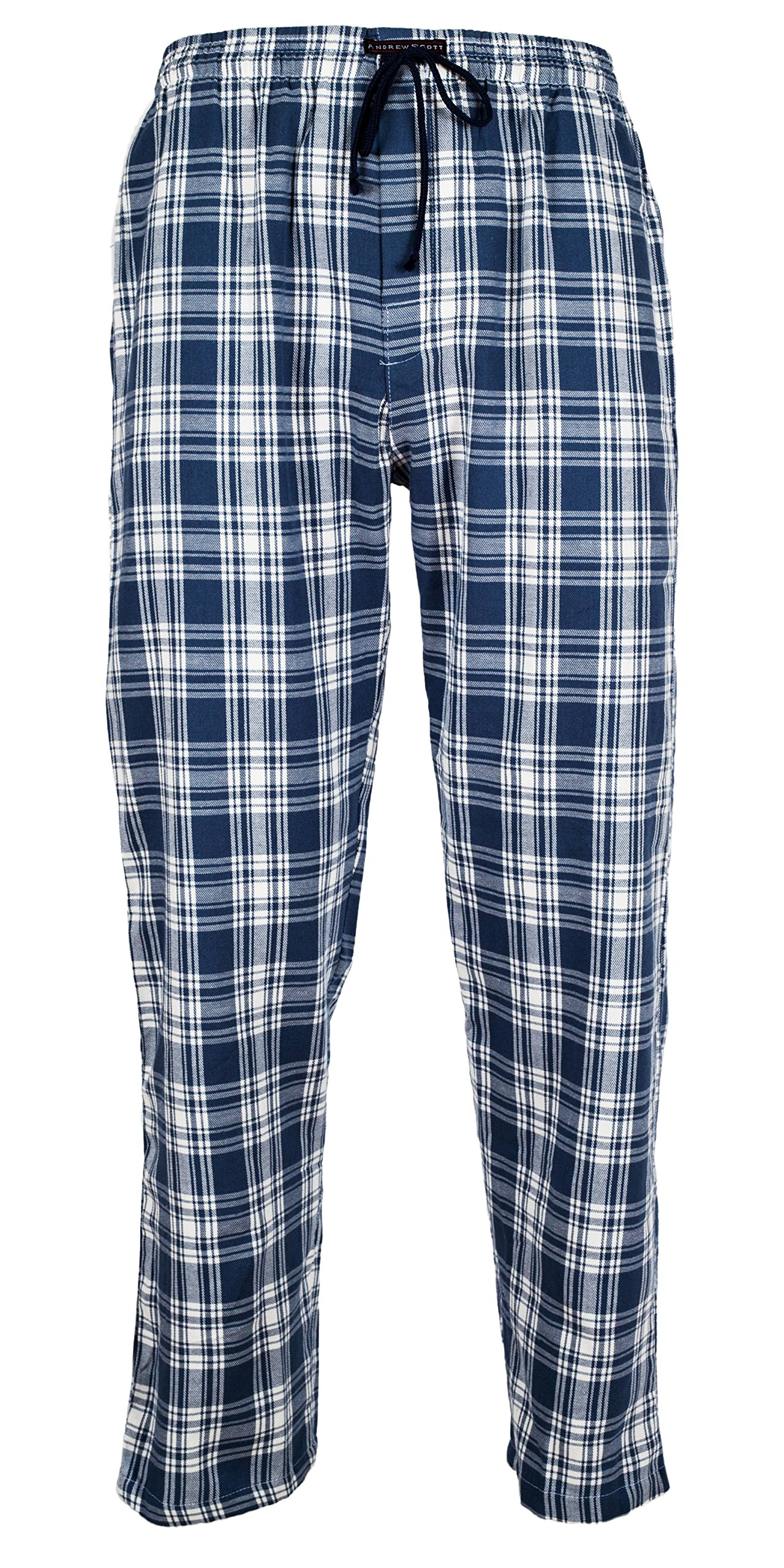 Andrew Scott Men's 3 Pack Cotton Flannel Fleece Brush Pajama Sleep & Lounge Pants (XL/40-42, 3 Pack - Classic Flannel Assorted Plaids) by Andrew Scott (Image #6)