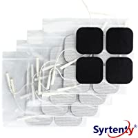 """Syrtenty TENS Unit Electrodes Pads 2x2 Replacement Pads Electrode Patches For Electrotherapy (2"""" Square - 20 pack)"""
