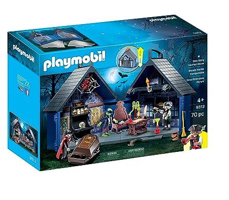 01ab08e0e Amazon.com: PLAYMOBIL® Take Along Haunted House: Toys & Games