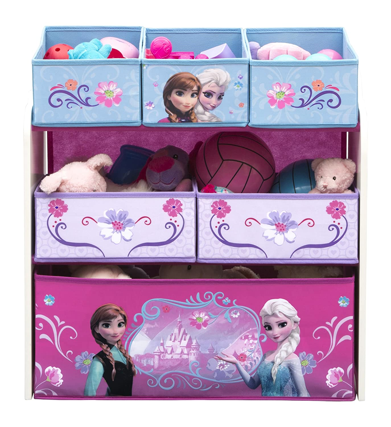 Delta Children Multi-Bin Toy Organizer, Disney Frozen