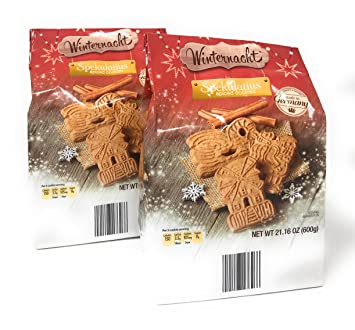 Spiced Cookies Spekulatius Authentic German Holiday Cookies By Winternacht 600 Grams Pack Of 2