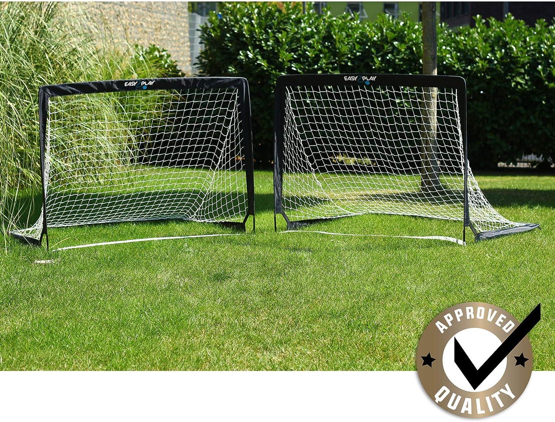 EASY2PLAY Soccer Goals for Backyard Set of 2 Goals