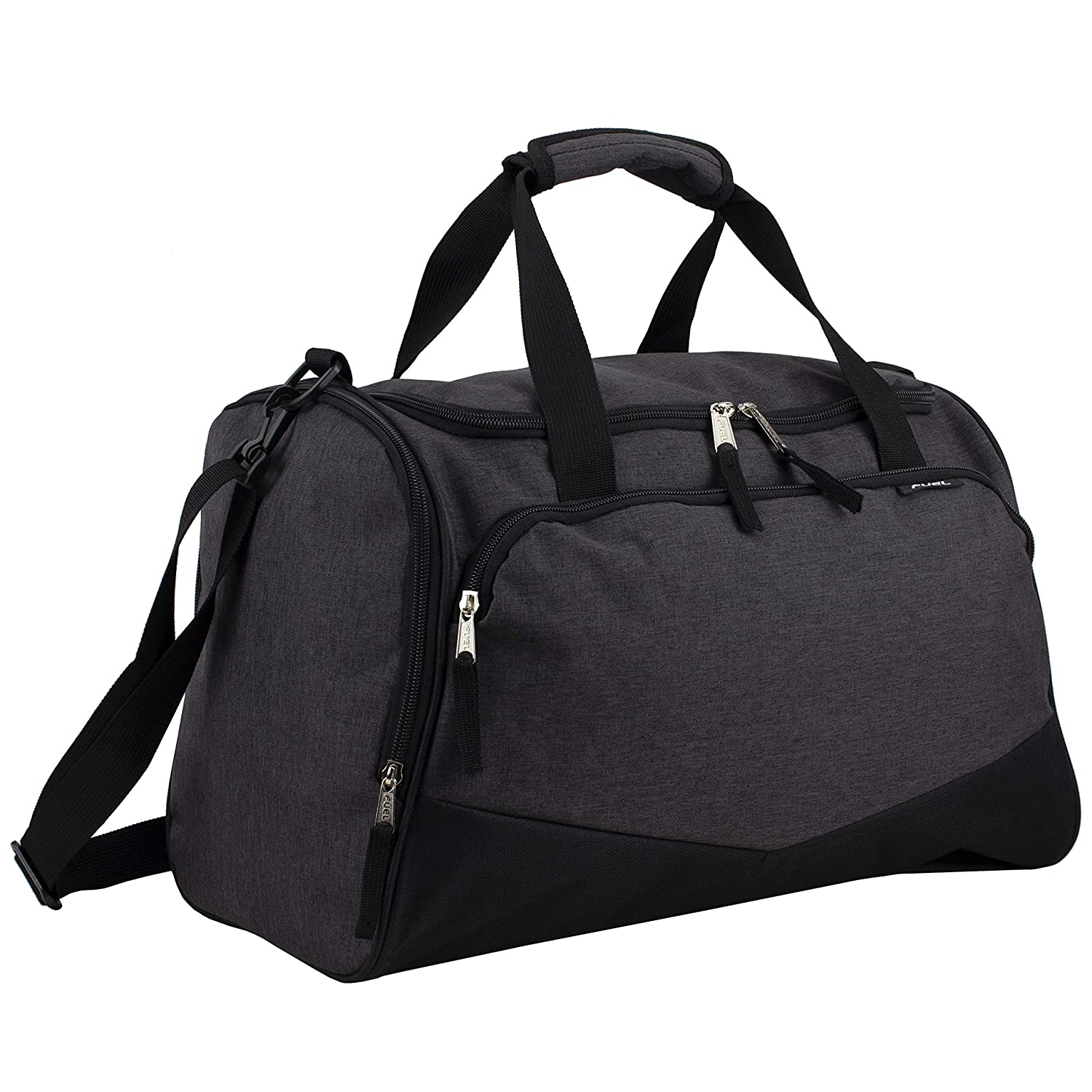 Fuel Sport Multifunctional Lightweight Duffel, 17.5 , for Gym, Travels and Sports – Black Black Chambray
