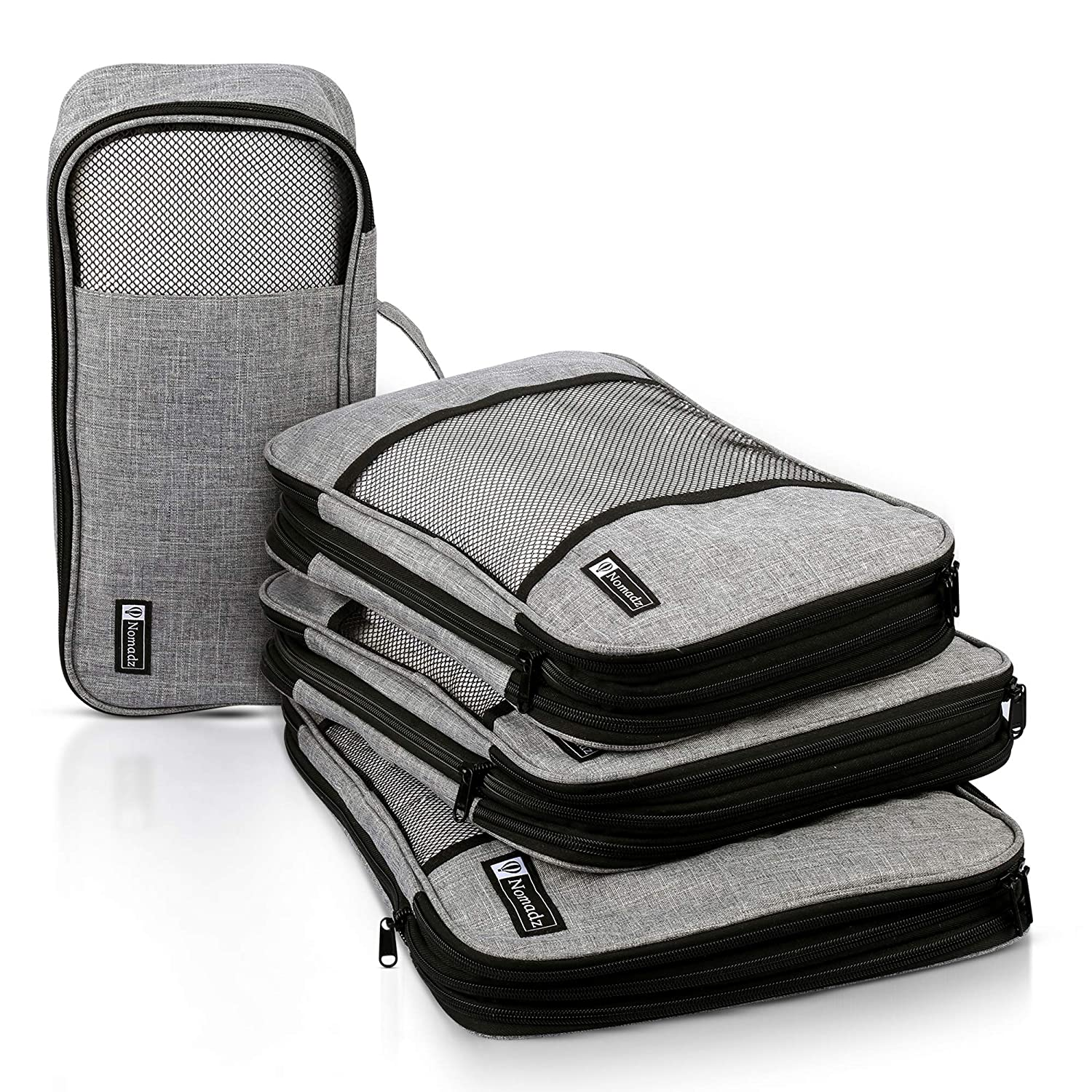 a31fc4d327e9 Compression Packing Cubes Travel Luggage-Organizer Set Packs More in Less  Space (Double Sided)