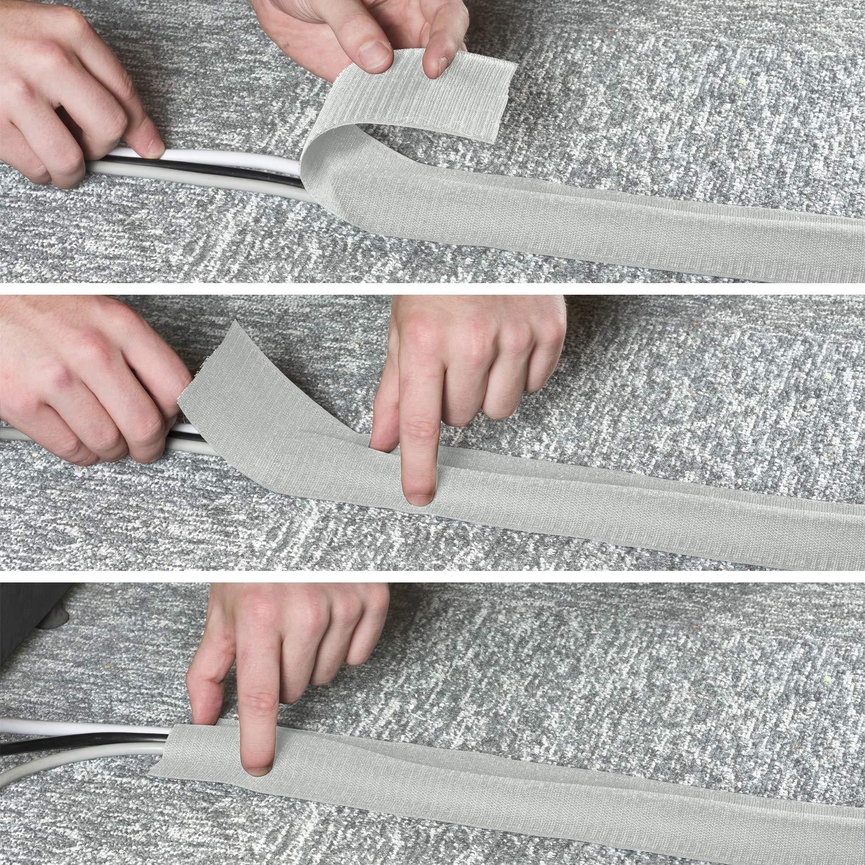Breite 75 mm flexible Kabelbr/ücke f/ür B/üro-Teppichb/öden L/änge 3 m D-Line CGS02 Kabelgriffleiste Grau