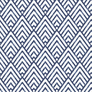 Blue  FREE SHIPPING RoomMates RMK9002WP Chevron Stripe Peel and Stick Wallpaper