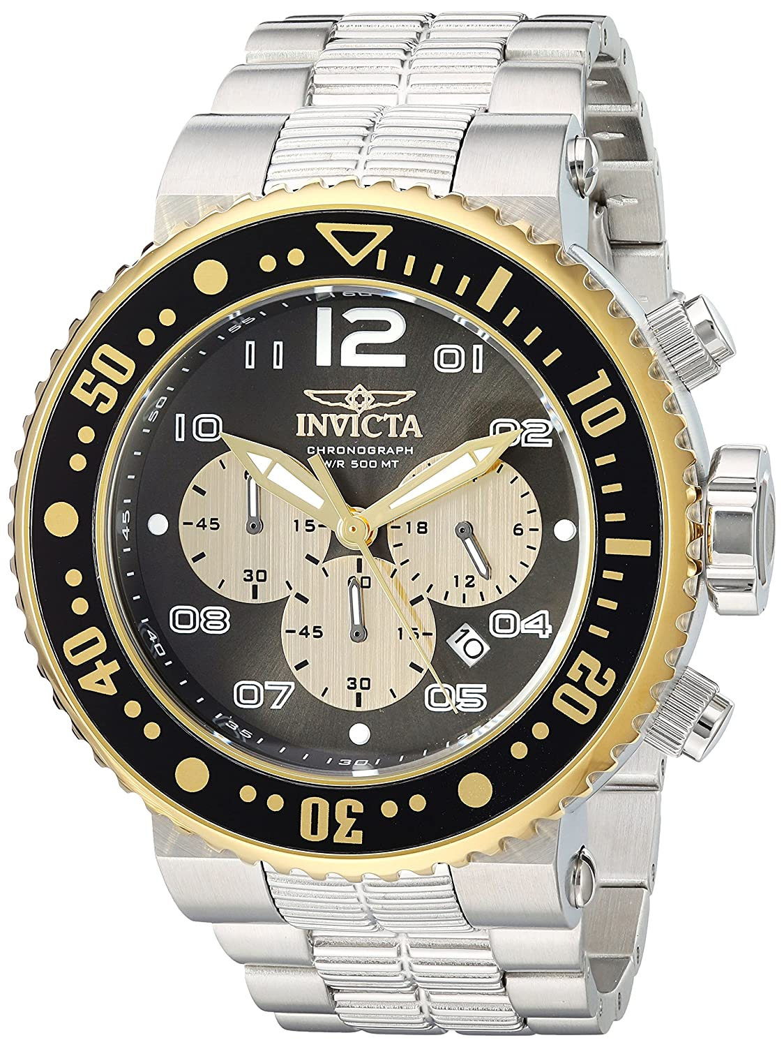 Invicta Men s Pro Diver Quartz Watch with Stainless-Steel Strap, Silver, 22 Model 25075