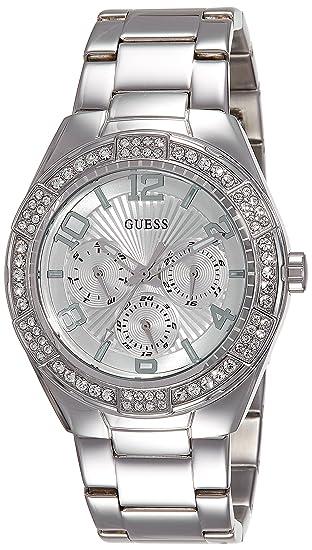 Guess W0729L1 - Reloj de Lujo para Mujer, Color Plateado: Amazon.es: Relojes