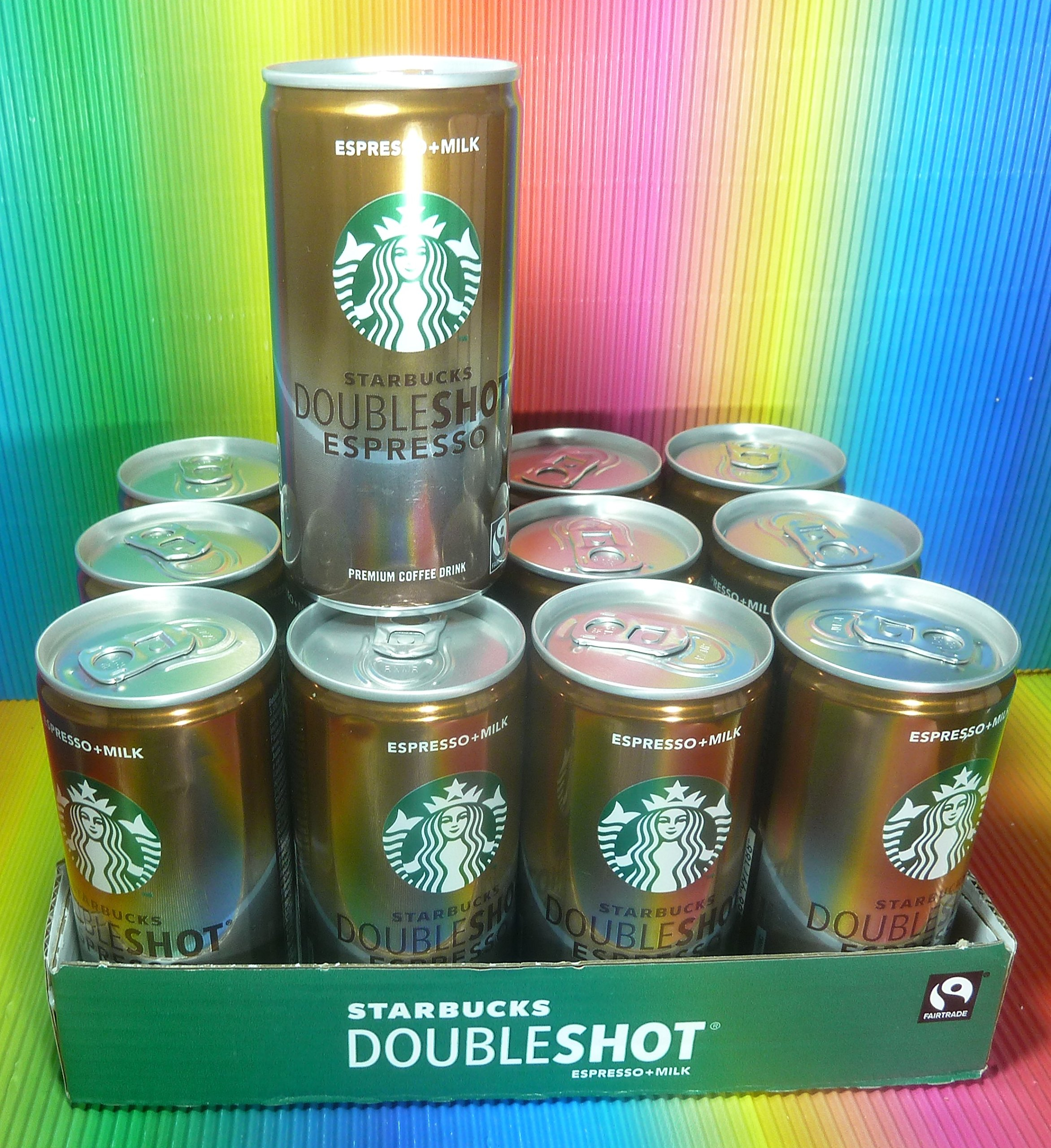 STARBUCKS ESPRESSO + MILK DOUBLESHOT ESPRESSO CAN 12 X 200 ML,PREMIUM COFFEE