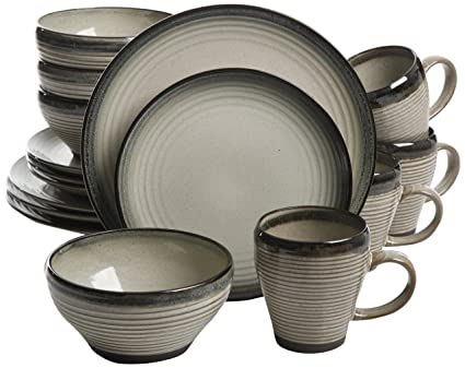 Gibson Elite Forest Lake 16 Piece Terra Cotta Dinnerware Set Reactive Glaze Clay and  sc 1 st  Amazon.com : clay dinnerware sets - pezcame.com