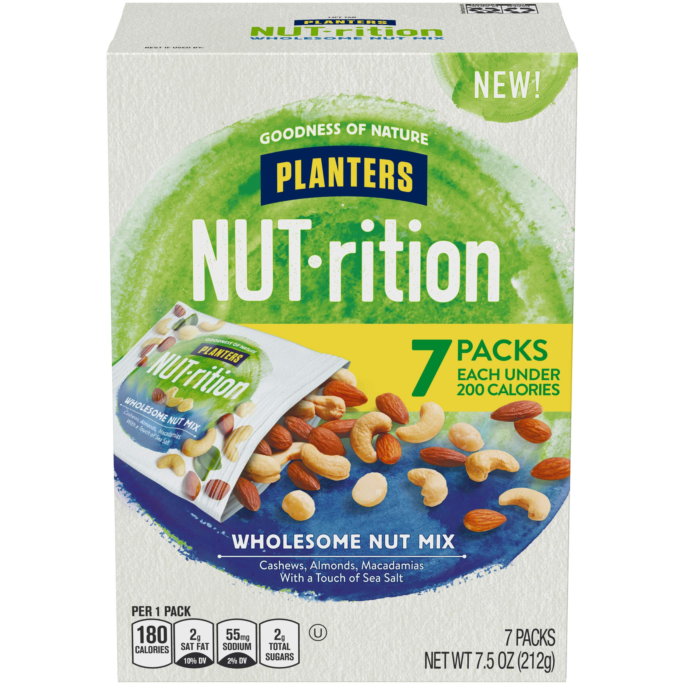 Planters NUTrition Wholesome Nut Mix, 1.07 Oz, Pack of 7 by NUTrition