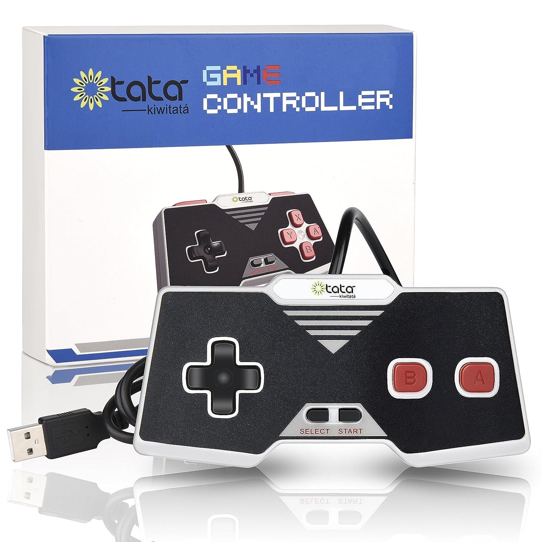 Classic NES USB Controller, kiwitatá Retro USB PC Game Controller Joypad  Gamepad for Windows PC/MAC (New version)