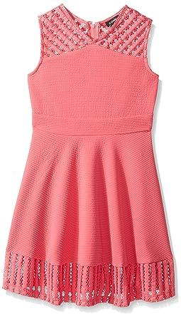 ca1e6d6f137a Amazon.com: ZUNIE Girls' Big Sleeveless Textured Knit Skater Dress ...