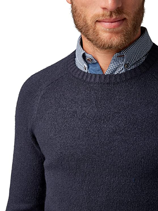 Tom Tailor Men s Weicher Rundhals Strickpullover, Pullover Mit Langenarm  Jumper  Amazon.co.uk  Clothing c3b48d7fe2
