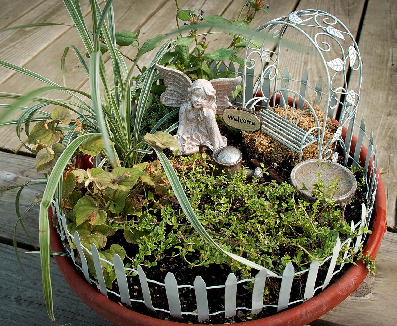 amazoncom echo valley 6240 fairy garden starter accessory kit outdoor statues patio lawn garden. beautiful ideas. Home Design Ideas