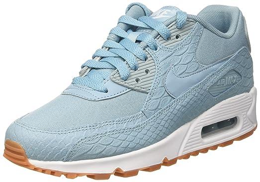 fb1da9a593c0 Nike WMNS Air Max 90 Premium lifestyle fashion sneakers womens mica blue mica  blue-