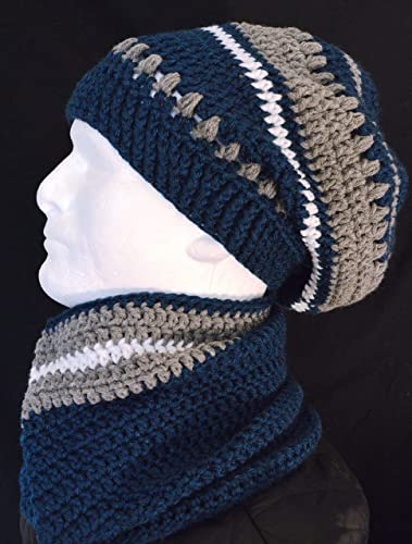 Amazoncom Dallas Cowboys Football Fan Slouch Hat And Neck Warmer