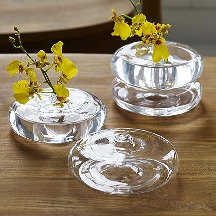 Amazon Com Design Ideas Lila Bud Vase Stackable Small Glass