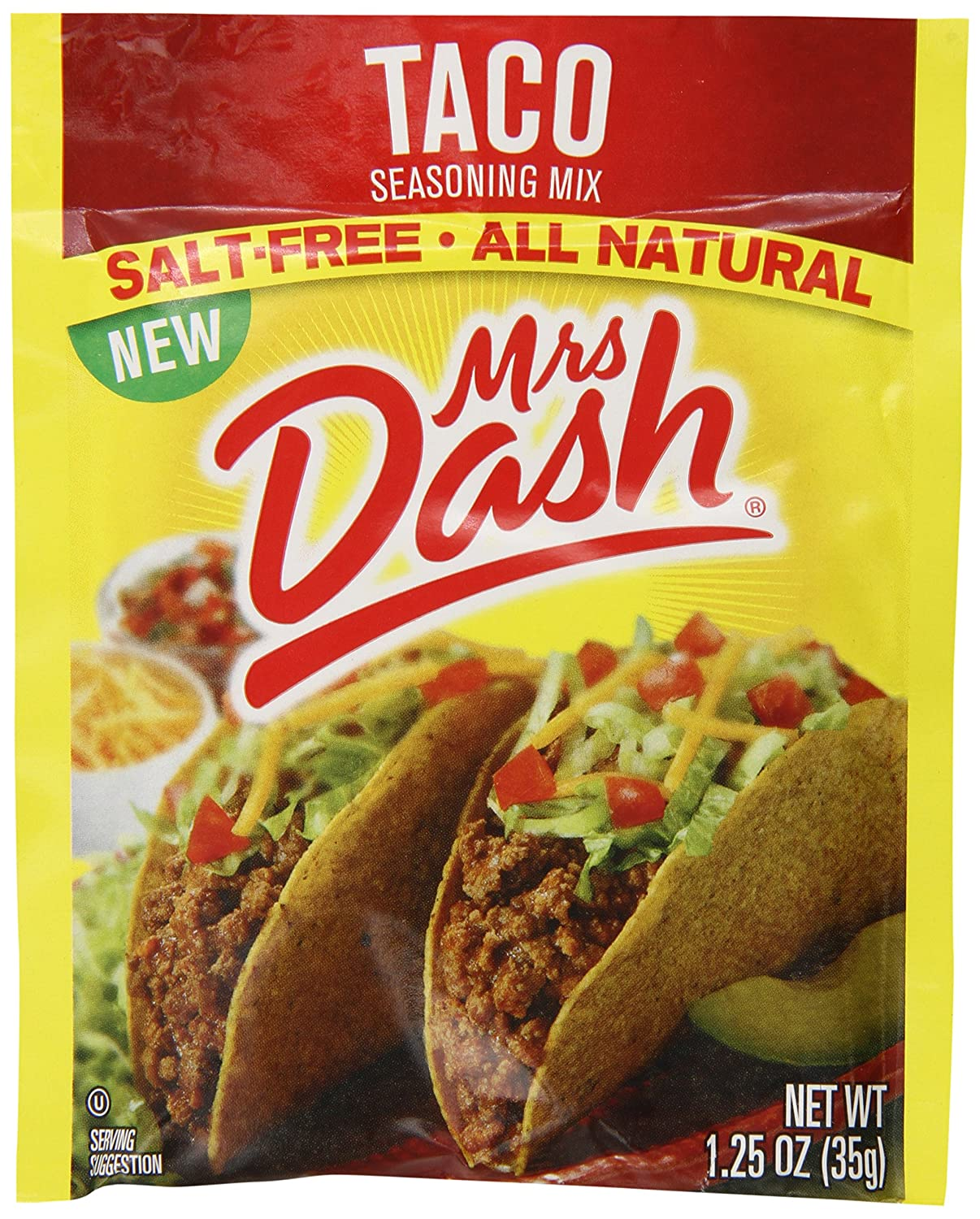 Mrs. Dash Taco Seasoning Mix, 1.25 Ounce (Pack of 12)