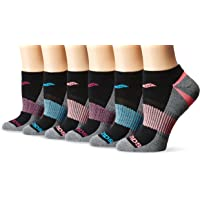 Saucony Women's 6 Pack Selective Cushion Performance No Show Athletic Sport Socks