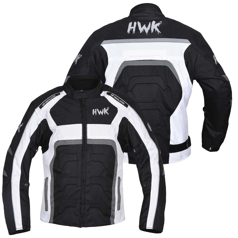 HWK Textile Veste Moto Cordura Veste de Moto Top 100/% /étanche CE Armoured Garantie de 1/an.
