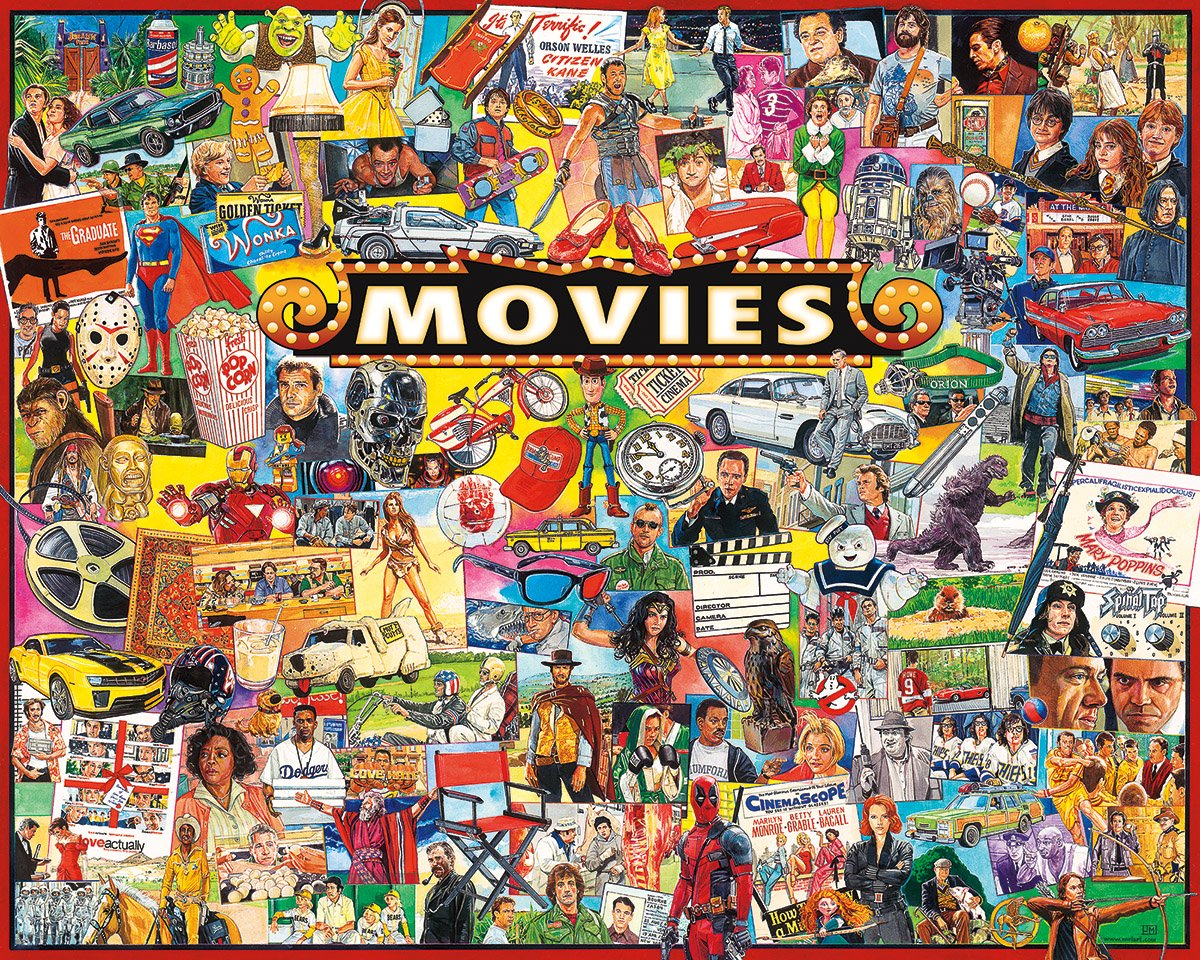 White Mountain Puzzles The Movies - 1000 Piece Jigsaw Puzzle by White Mountain