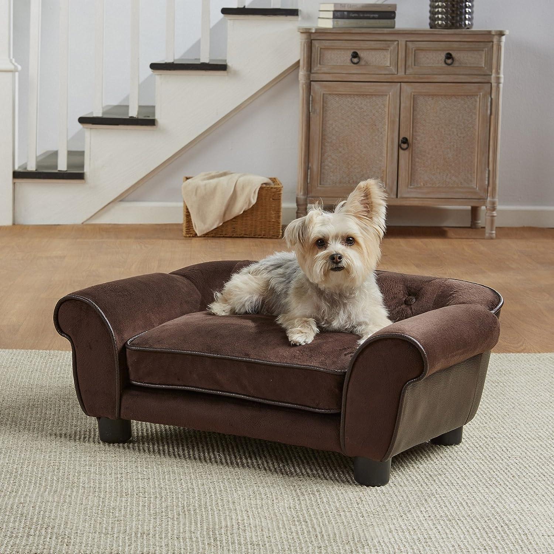 Enchanted Home Pet Brown Ultra Plush Cleo Pet Sofa