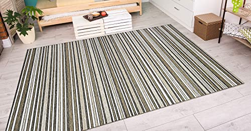 Couristan Cape Brockton Indoor Outdoor Area Rug, 6 6 x 9 6 , Light Brown Ivory