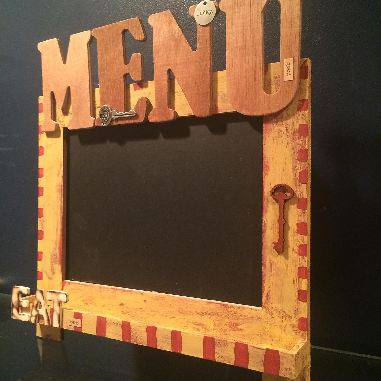 Amazon.com: Rustic chalkboard menu sign. Rustic kitchen ...