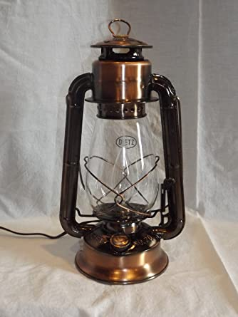 Dietz Junior U0027Vintage Styleu0027 Electric Lantern Table Lamp   Copper Bronze
