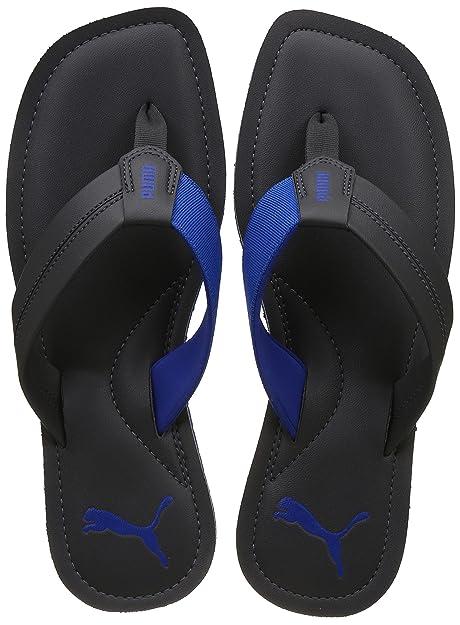62c62482e60a9 Puma Men s Ablaze Idp Dark Shadow and French Blue Hawaii Thong Sandals - 10  UK