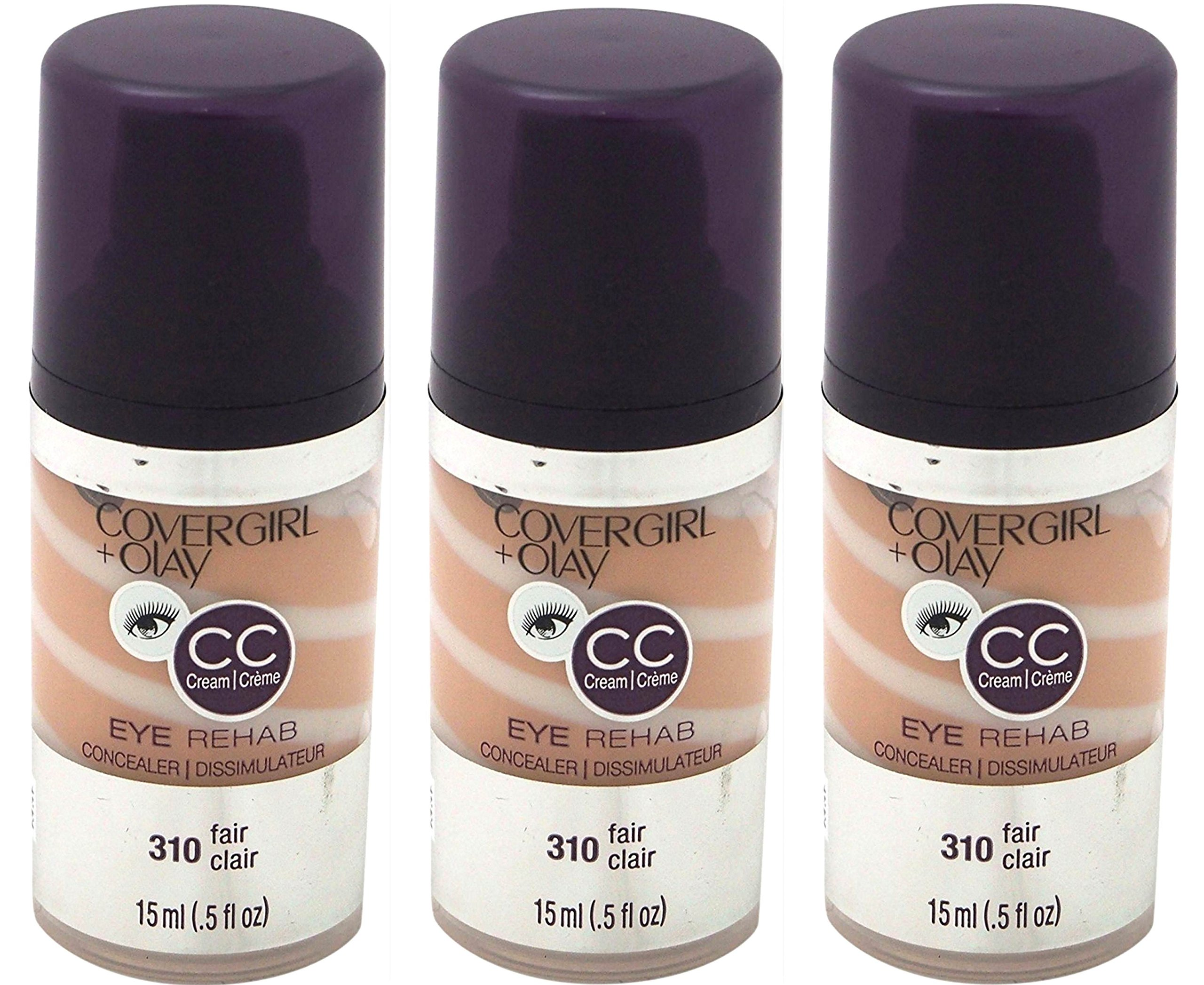 CoverGirl Plus Olay Eye Rehab Concealer (Fair 310,0.5 oz) PACK OF 3