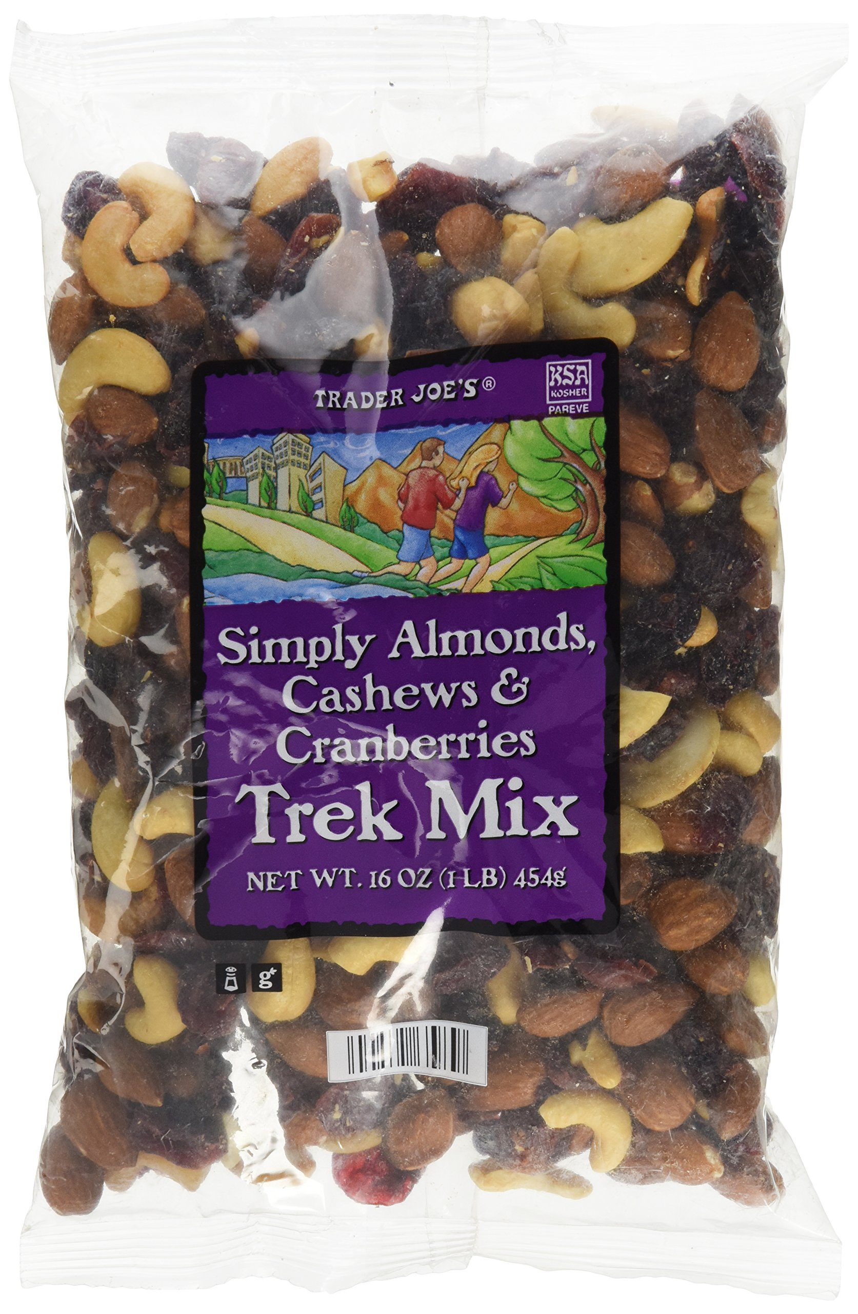 Trader Joe's Simply Almonds, Cashews & Cranberries Trek Mix...16 oz. bag