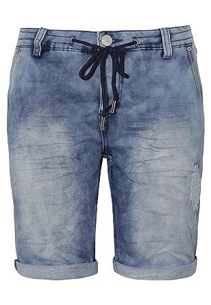 004eede93e2d58 Urban Surface Damen Sweat Bermuda-Shorts in Jeans Optik