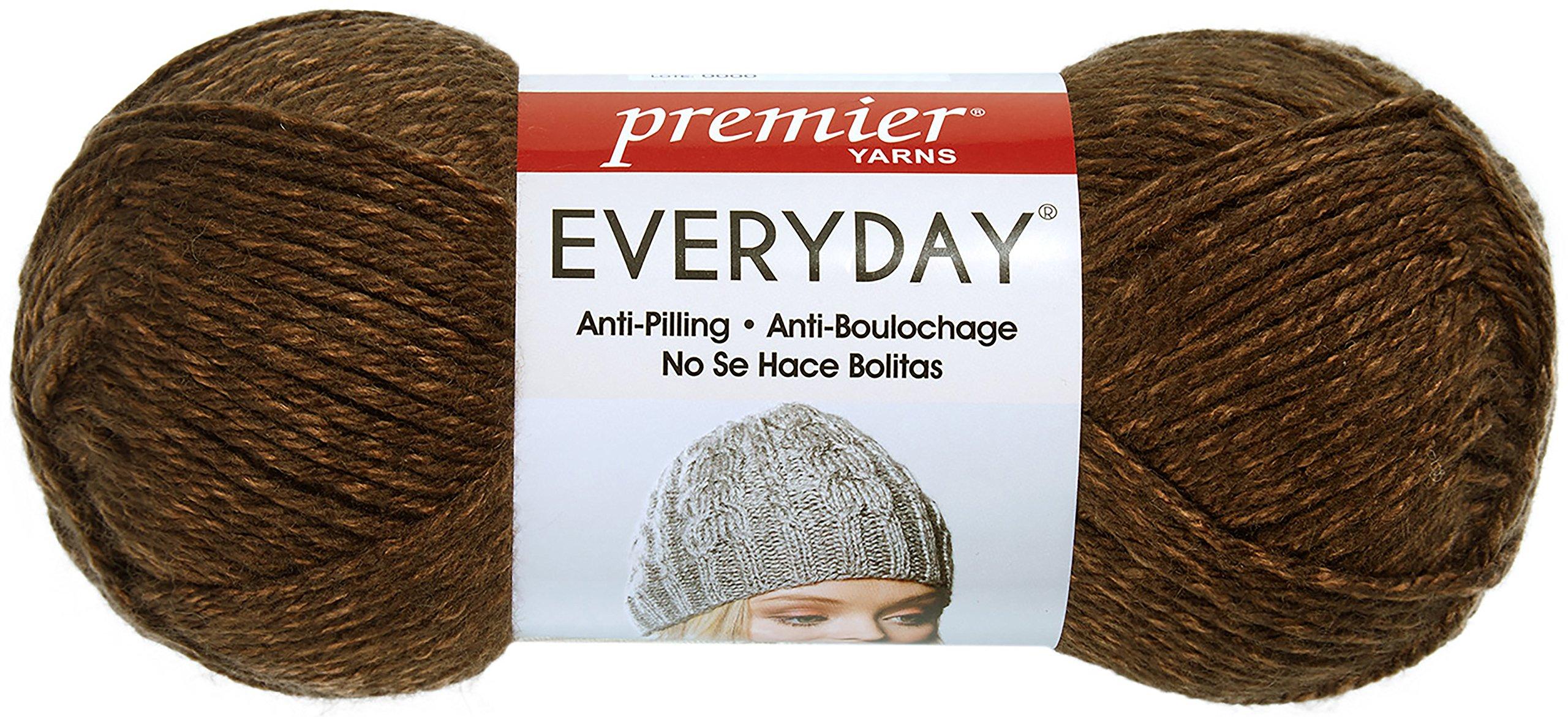 Premier Yarns 110-07 Everyday Soft Worsted Heather Yarn-Cocoa by Premier Yarns (Image #1)