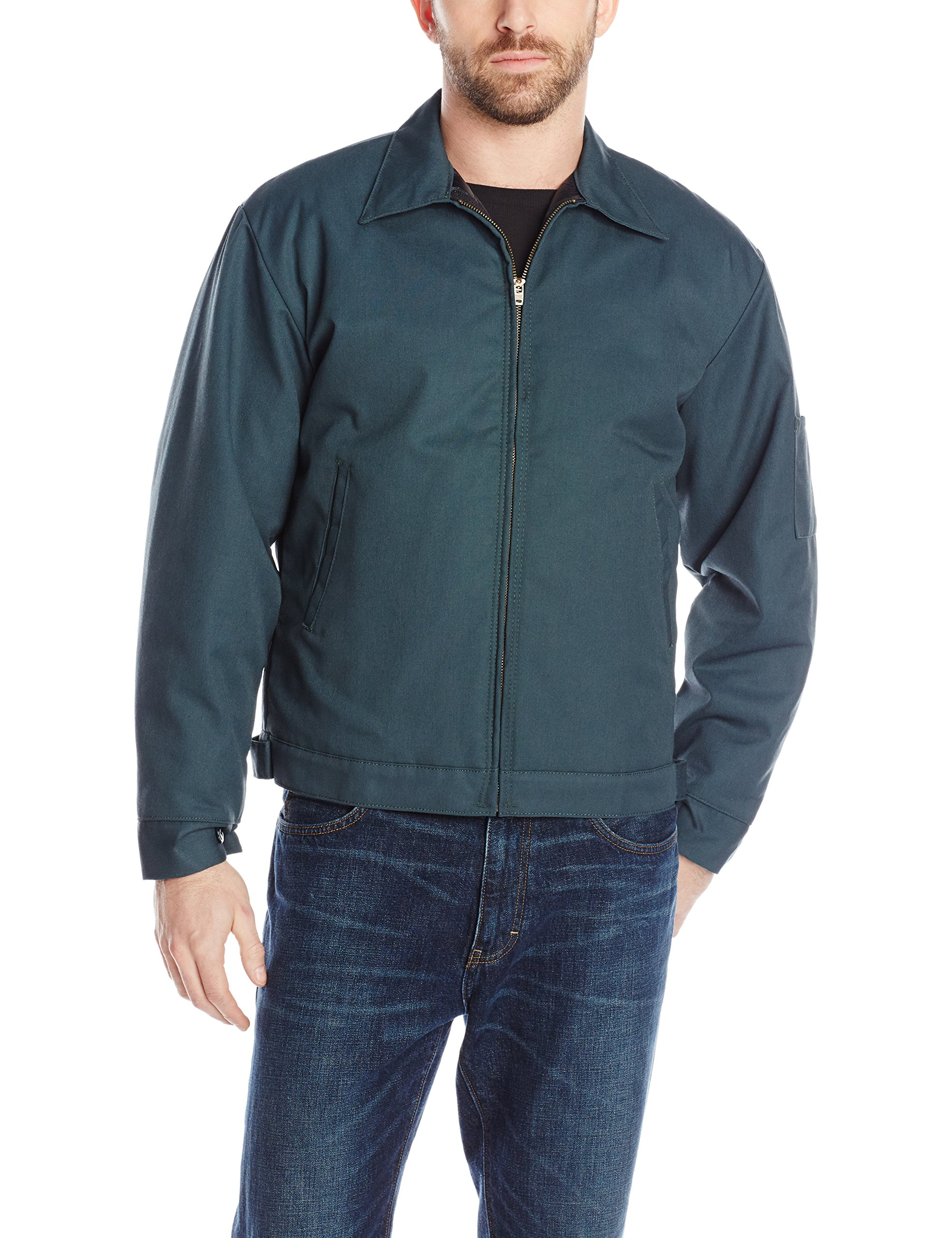 Red Kap Men's Slash Pocket Quilt-Lined Jacket, Spruce Green, Small by Red Kap