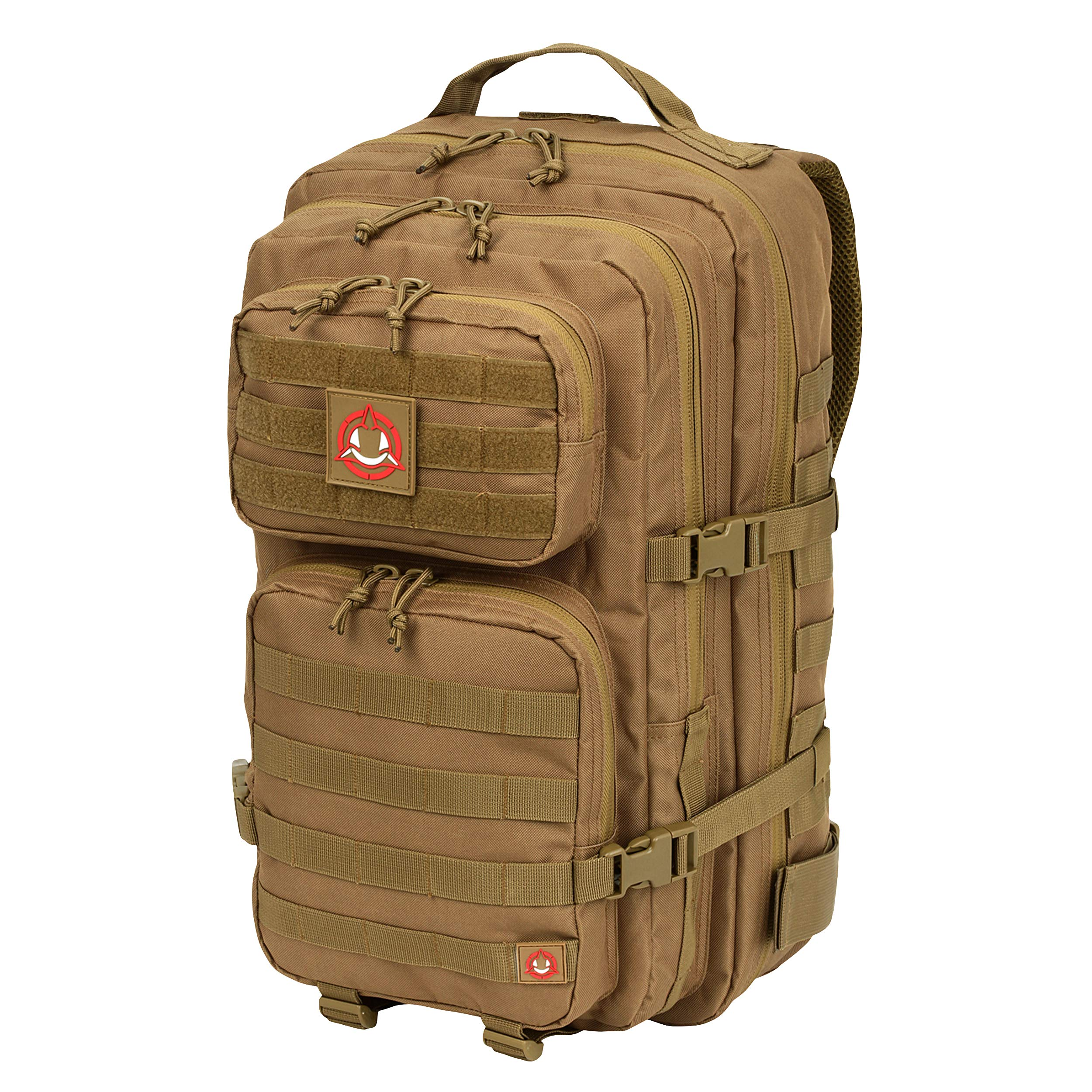 Orca Tactical Military Backpack - Large Military Grade Backpack - Army Inspired Salish 40L - External MOLLE Mounted 3 Day Survival Bag - Rucksack Pack (Coyote Brown)