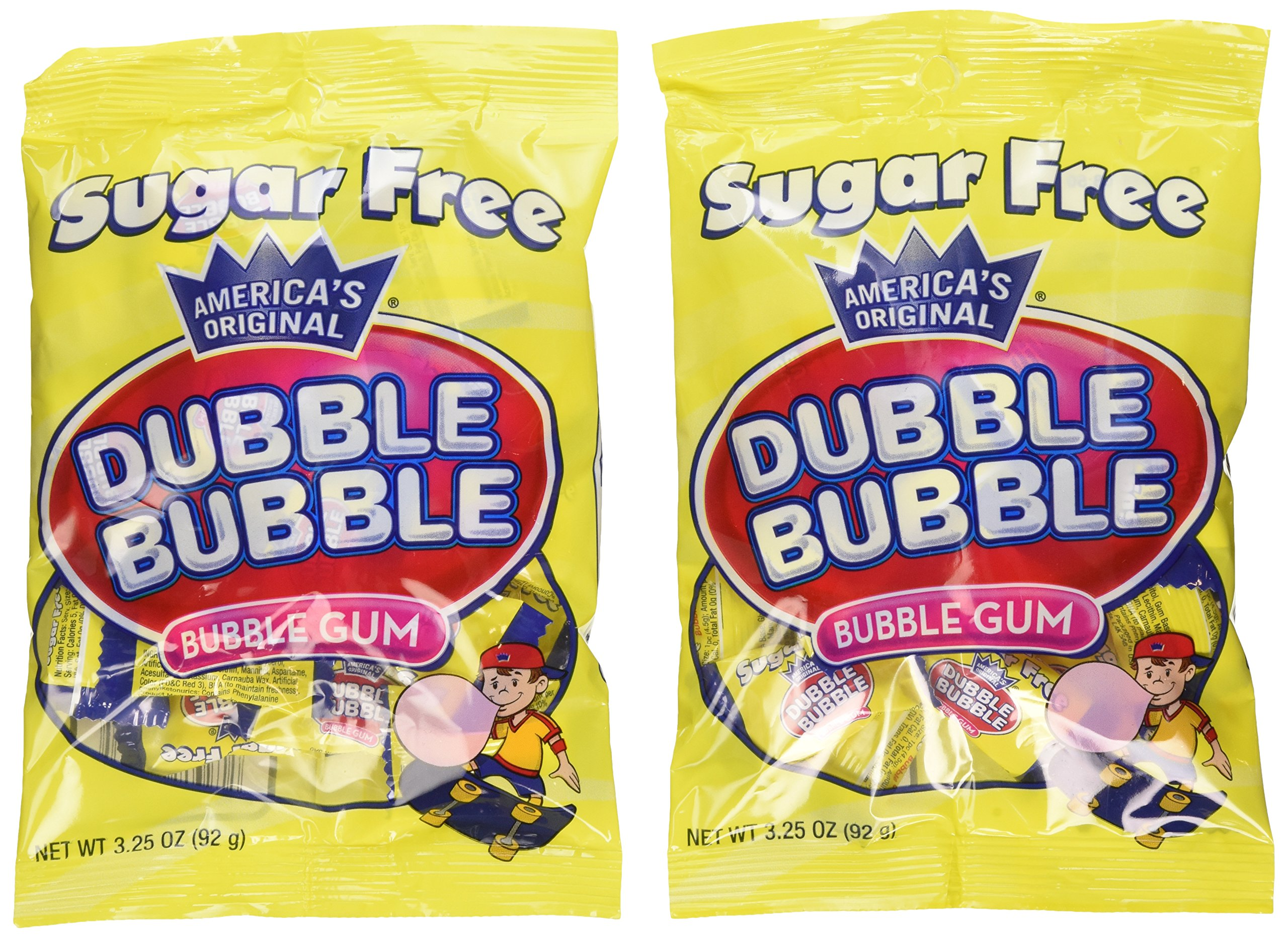 Dubble Bubble Sugar Free Bubble Gum - Net Wt. 3.25 oz. - Pack of 12 by Dubble Bubble