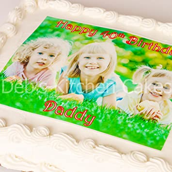Groovy Your Own Photo Message Personalised Cake Topper By Debs Kitchen Funny Birthday Cards Online Inifofree Goldxyz