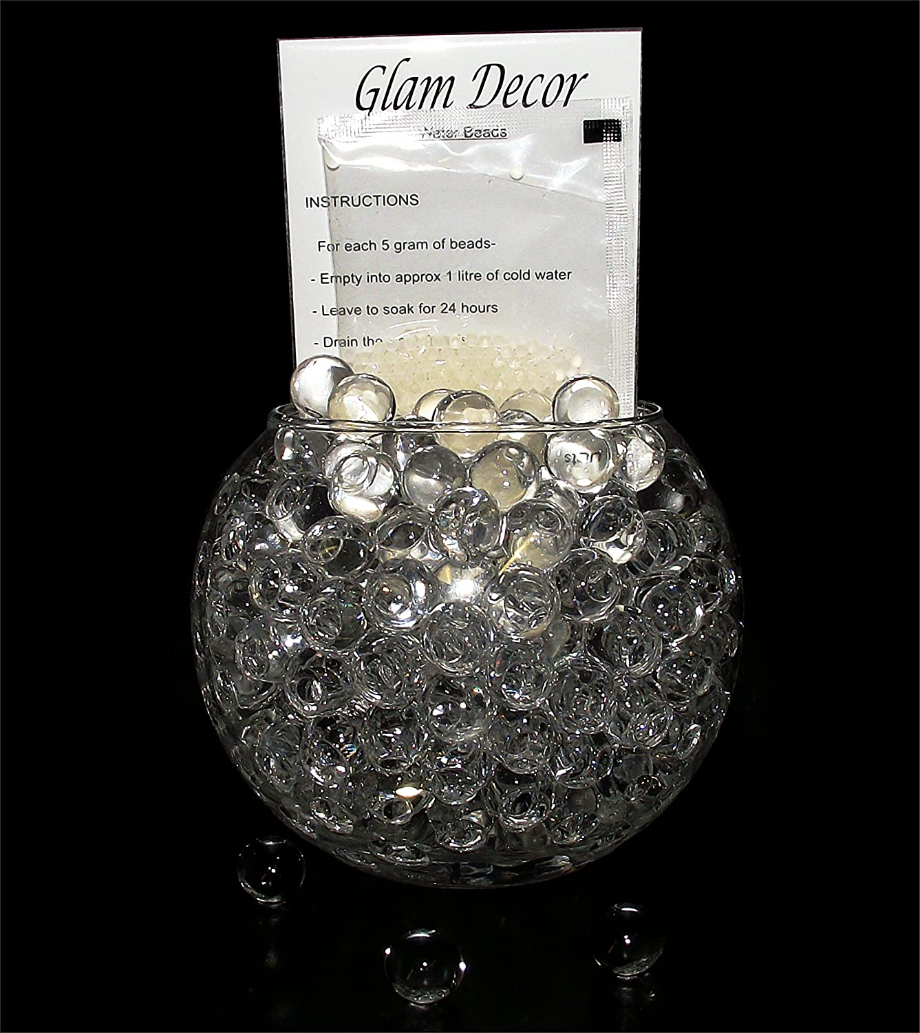 10 packs clear glam decor water beads gel balls bio crystal soil 10 packs clear glam decor water beads gel balls bio crystal soil wedding vase decoration amazon kitchen home reviewsmspy