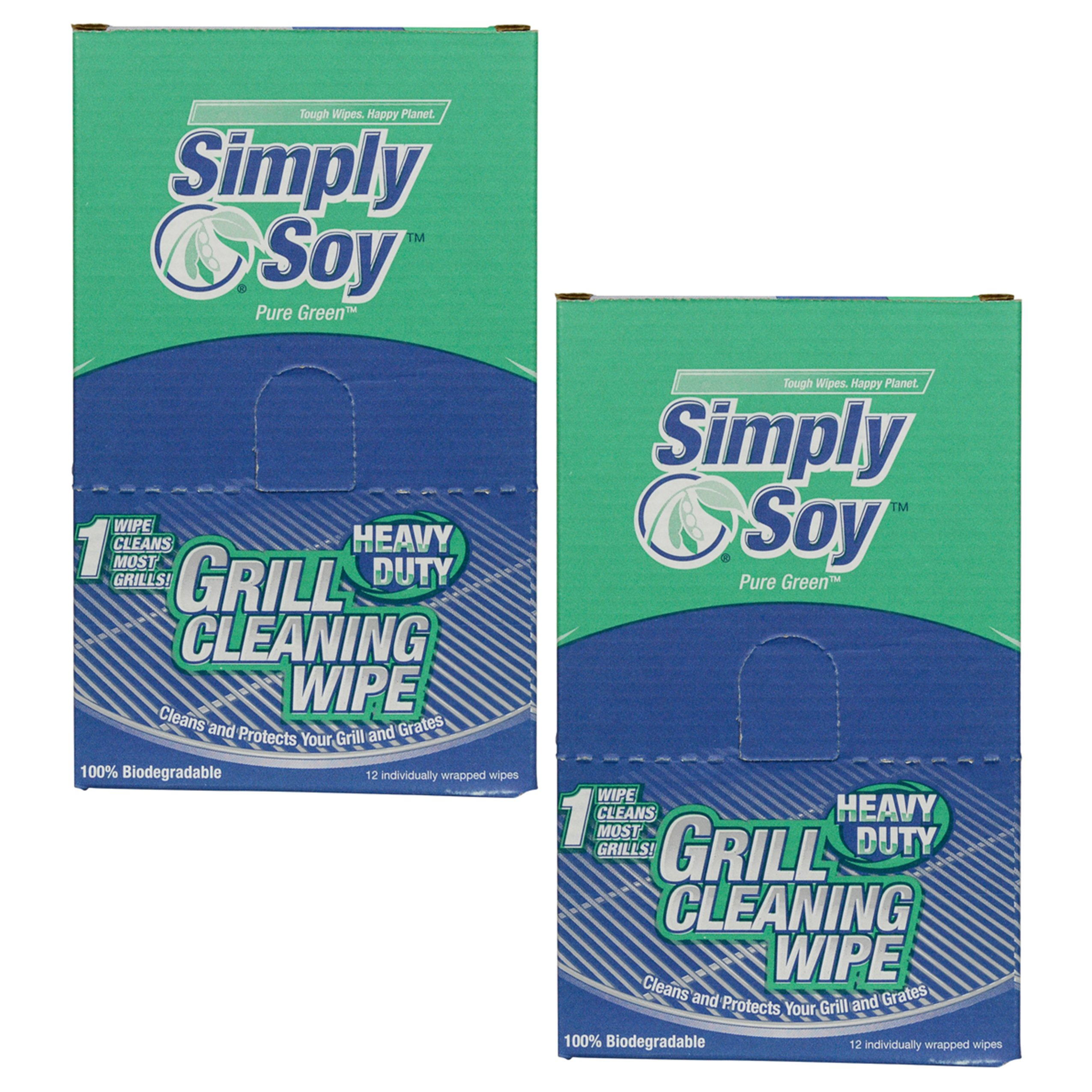 Nutek Simply Soy Pure Green Biodegradable Heavy-duty Grill Cleaning Wipes (24 Pack) by Nu-Tek