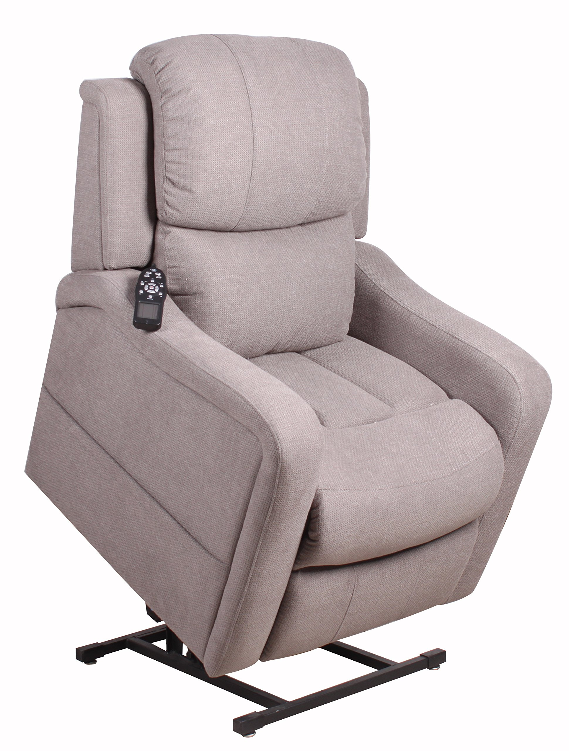 Therapedic CARSON Lift Chair, Smoke, with Articulating Headrest