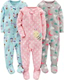 Simple Joys by Carter's pijama de algodón para bebés y niñas pequeñas, 3 unidades