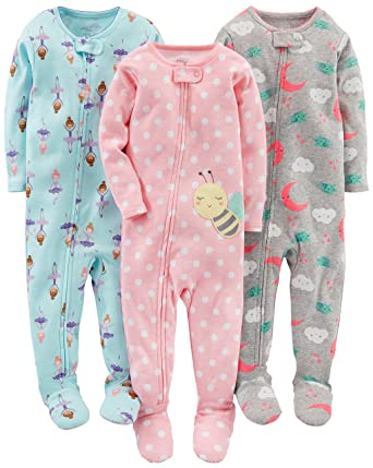 8e7ca8dc5437 Amazon.com  Simple Joys by Carter s Baby and Toddler Girls  3-Pack ...