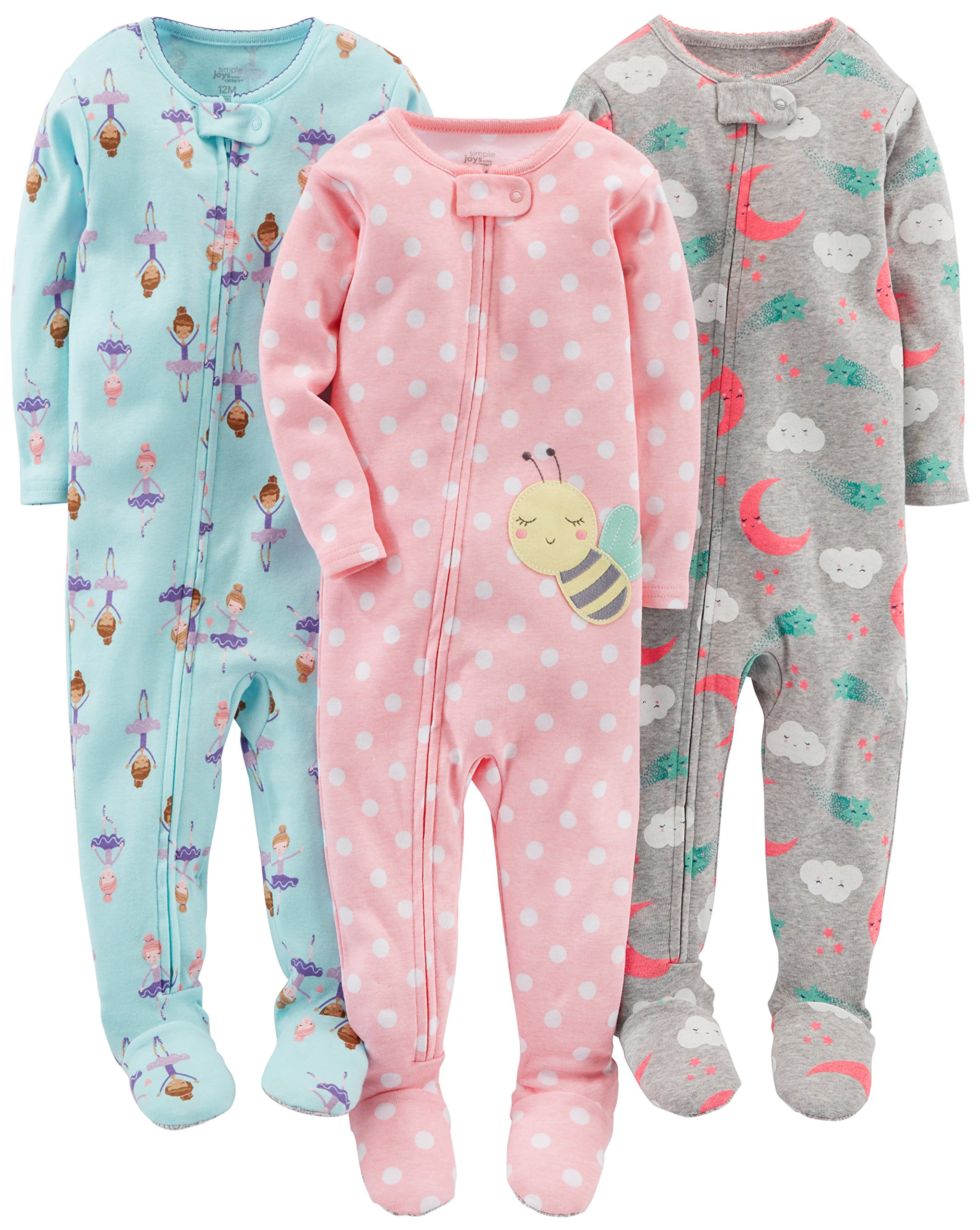 Simple Joys by Carter's Toddler Girls'3-Pack