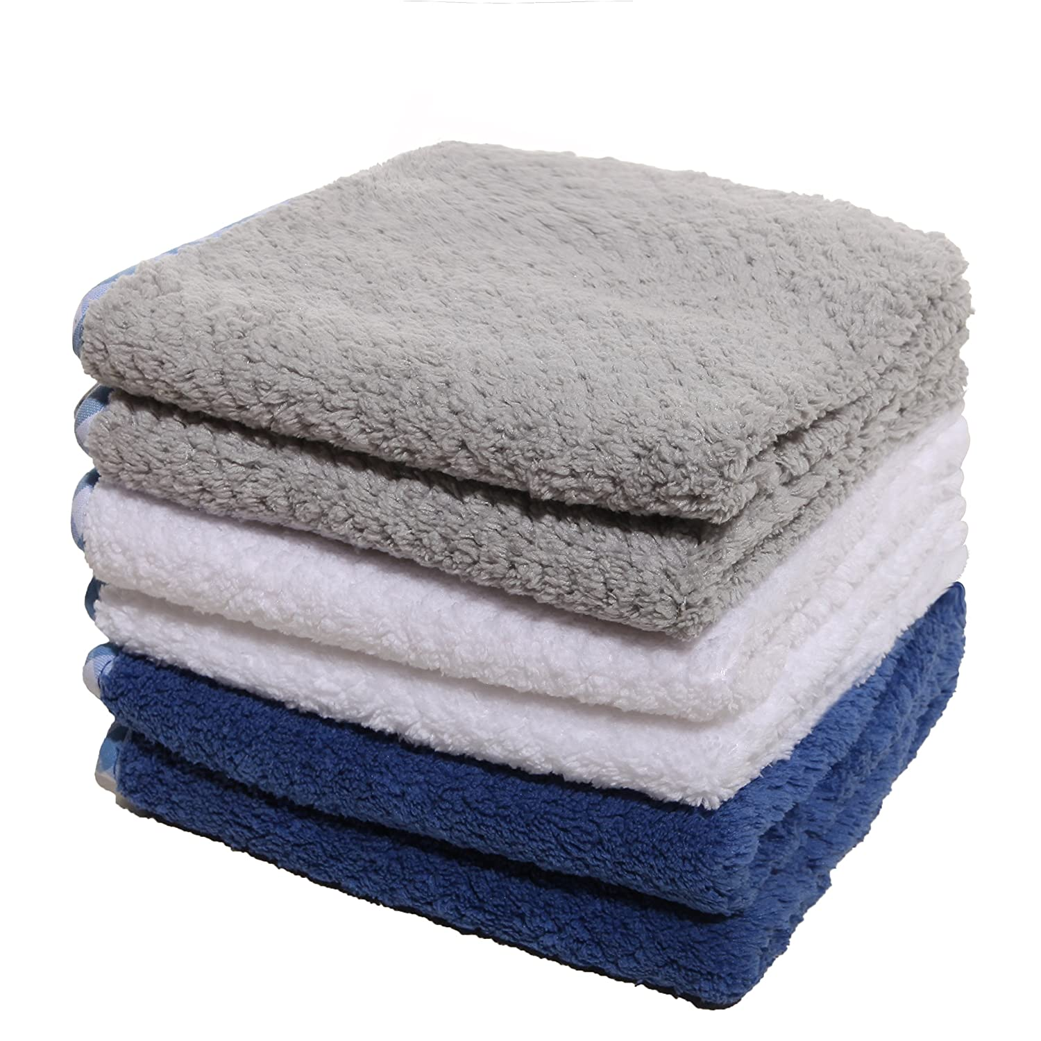 Luckiss Plush Microfiber Dish Cloths Ultra Absorbent Quick Dry Kitchen Rags For Drying And Washing Dishes Soft Durable Cleaning Dust Cloths 12 X 12