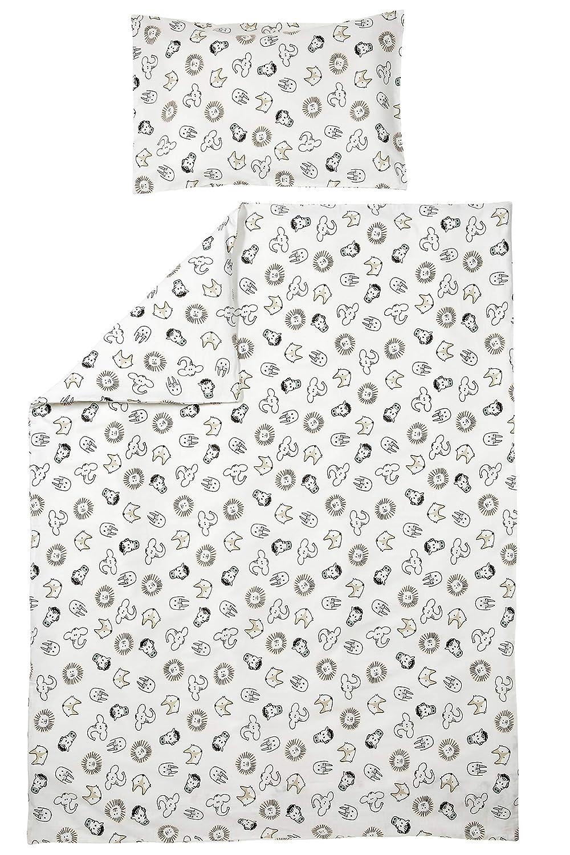Meyco 425056 Parure de lit pour enfant Motif animaux Blanc 40 x 60 et 120 x 150 cm b-boo baby & lifestyle GmbH