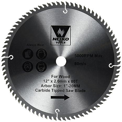 Neiko 10768a 12 carbide tipped miter saw blade 80 tooth neiko 10768a 12quot carbide tipped miter saw blade keyboard keysfo Images
