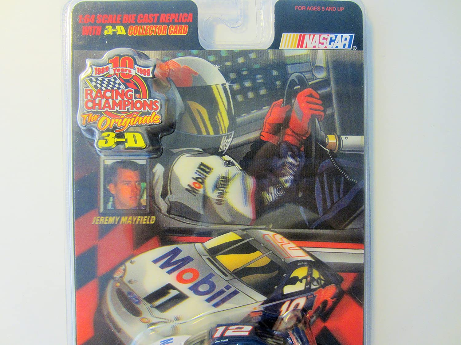 1999 The Originals 3-D Racing Champions Jeremy Mayfield NASCAR Inc 91190 No 12 Mobil 1 Ford Taurus